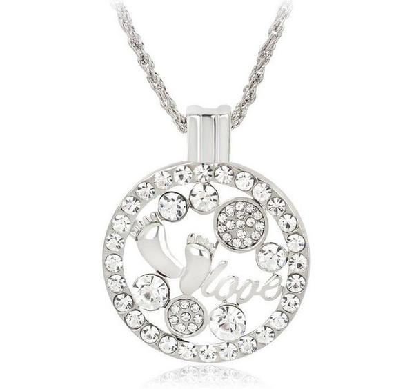 Clubfoot Baby Feet & Love Necklace
